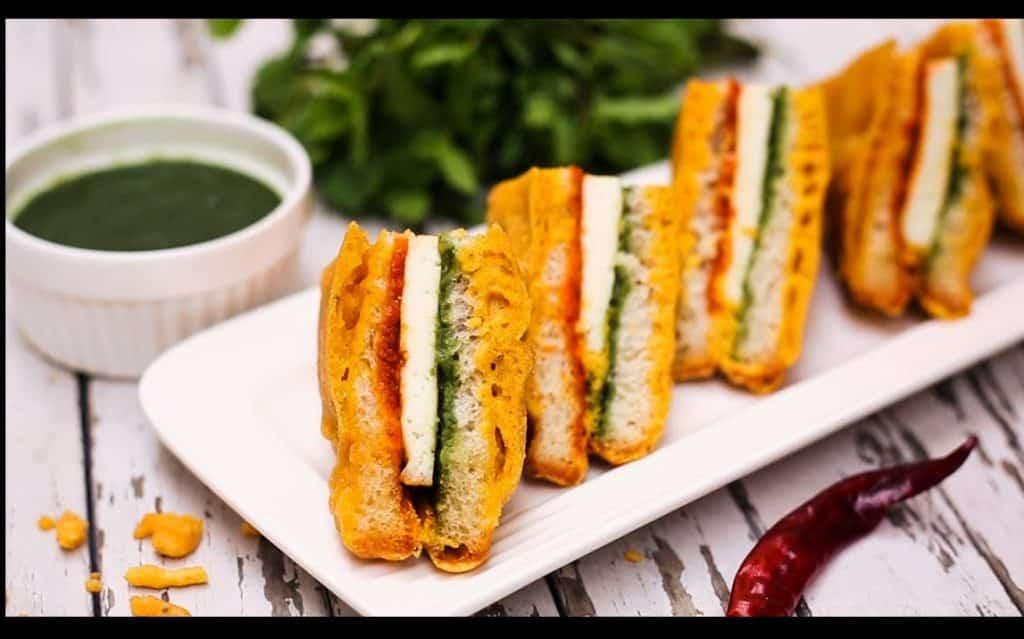 cheesy bread pakora.indian link
