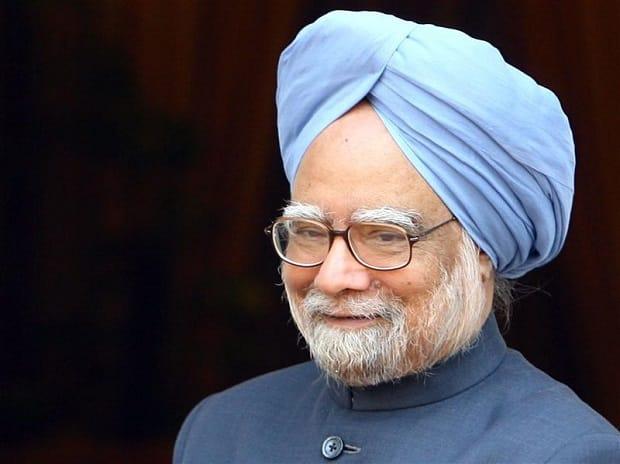 India's Prime Minister Manmohan Singh smiles in New Delhi