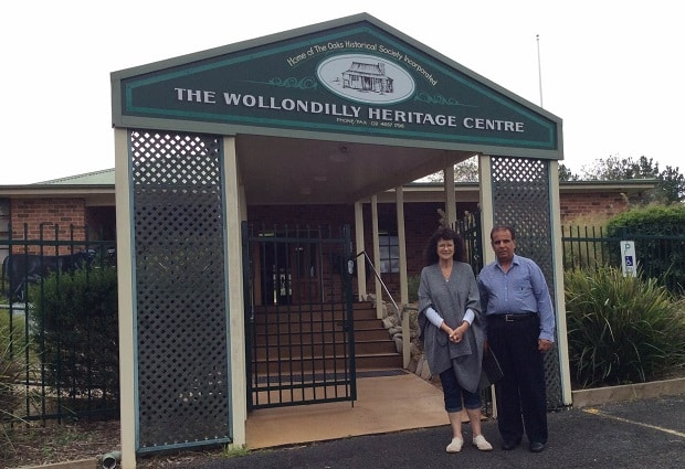 Baljinder Singh with the President of  Wollondilly Heritage Centre