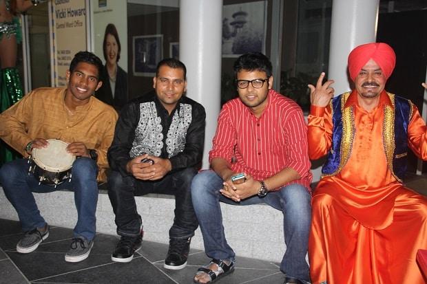 Brisbane.Babas Band  2a  L-R  Kushal Sami, Jaggi Dholi, Parth Raval, Satnam Singh.