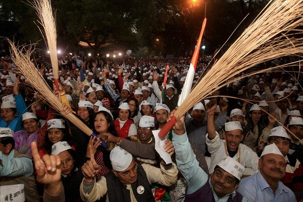 AAP's poll victory rally