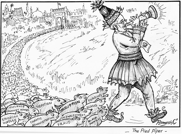 The Pied Piper Political Cartoon