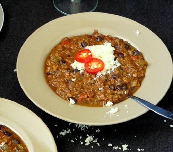 Dark chocolate and beef chilli recipe
