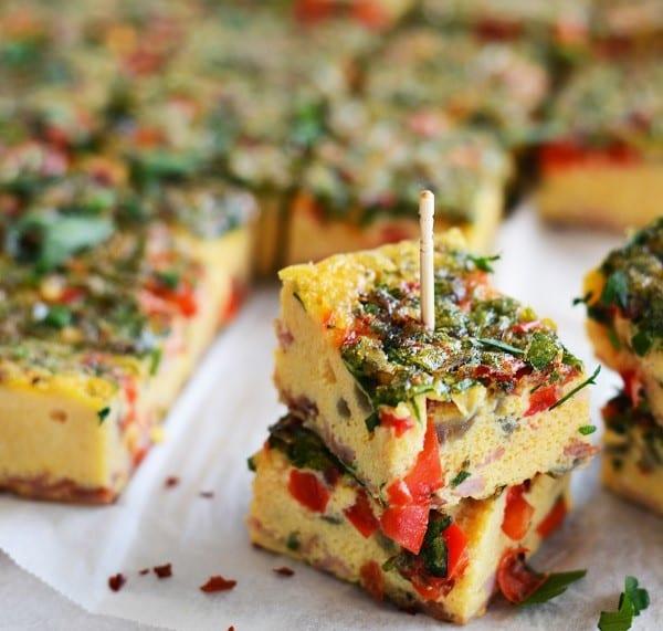 Omelette Brochettes.Indian Link