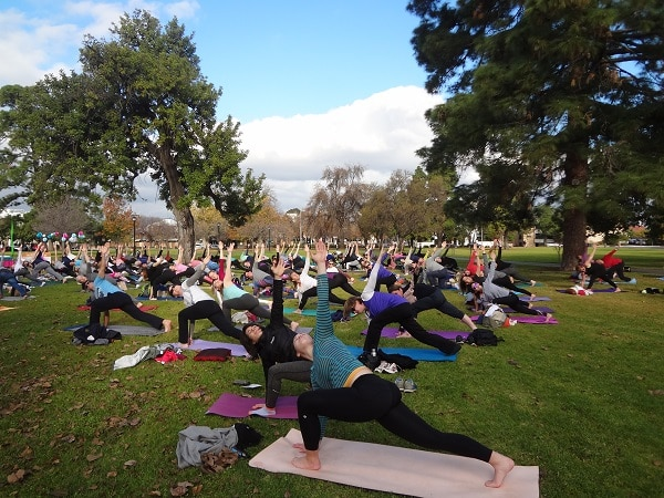 Adelaide Yoga Day.Indian Link
